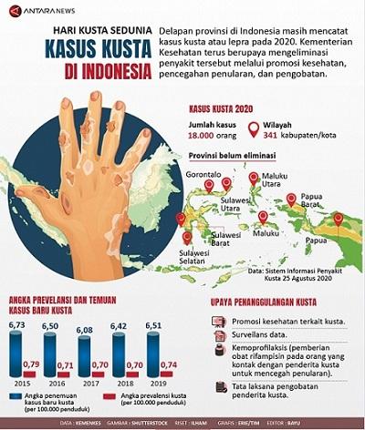Data Penyakit Kusta di Indonesia